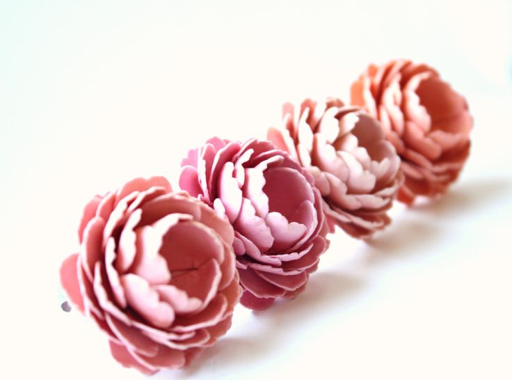 paper flower ring in pink <3 www.treeoflove.cz