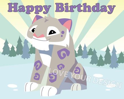 Snow Leopard Animal Jam game pin the tail on the Leopard birthday game You print and play