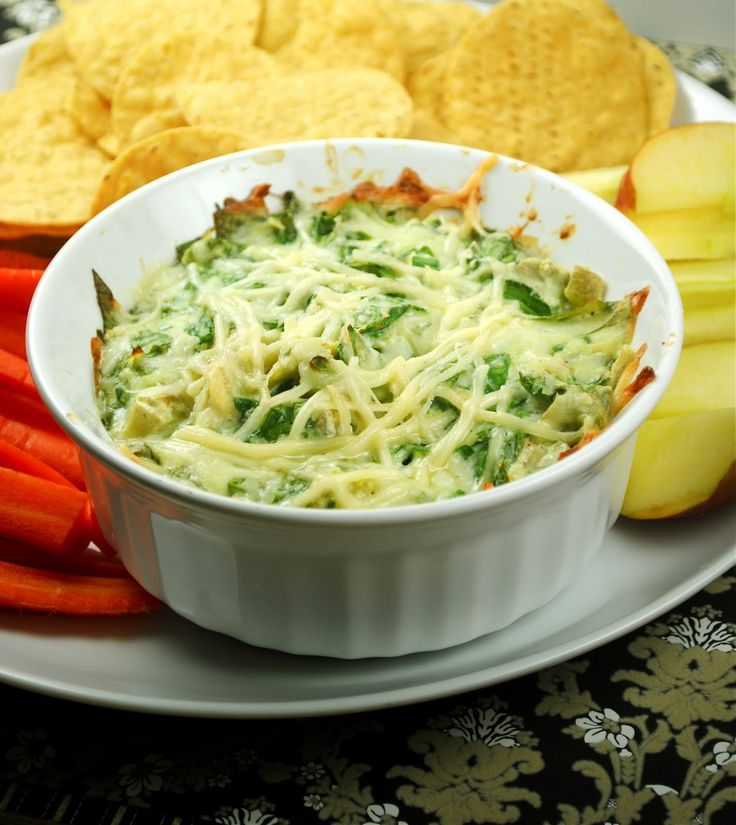 Somewhat healthy spinach artichoke dip.