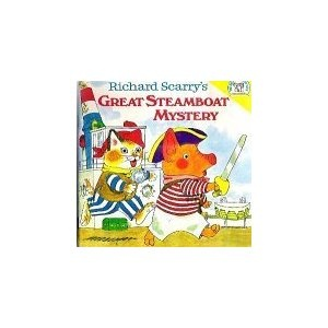 Richard Scarry's Great Steamboat Mystery: Childhood Books, Random Houses, Houses Pictures, Books Club, Books Worth, Pictures Books, Steamboat Mystery, Bedtime Books, Richard Scarry Mi