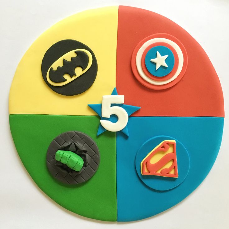 Superheroes Fondant Cake topper by SugaryLand on Etsy