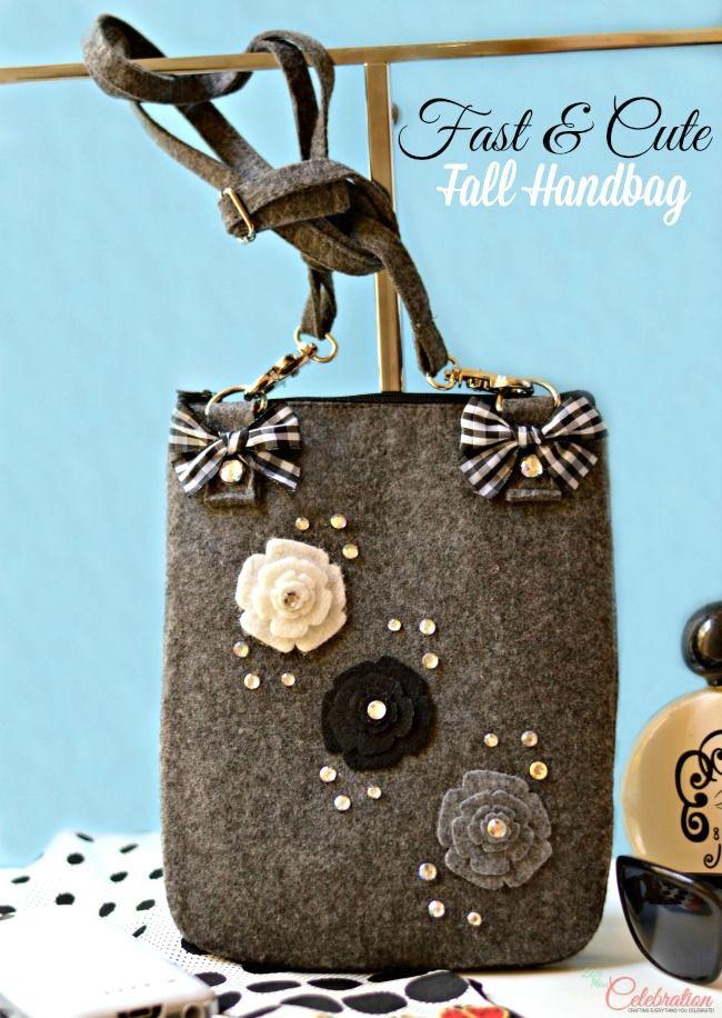 Lighten up this fall - your handbag, that is! Make this fast & cute fall handbag! From littlemisscelebration.com