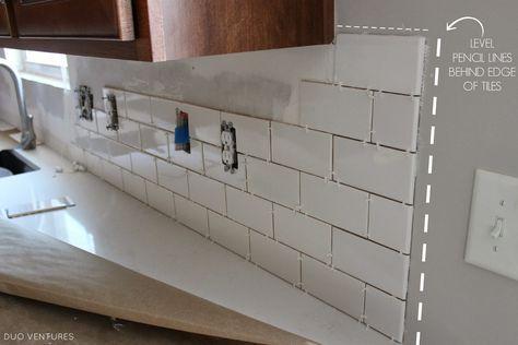 Kitchen Makeover: Subway Tile Backsplash Installation