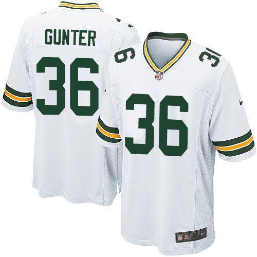 24.99 Mens Nike Green Bay Packers 36 LaDarius Gunter Game White NFL Jersey Green  Bay Packers Team nike donald driver ... 765856b80