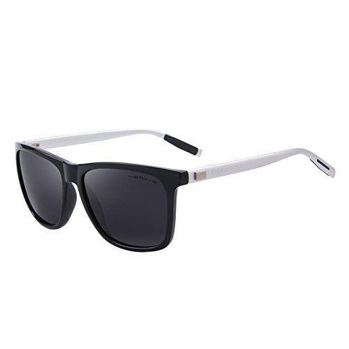 Unisex Sunglasses Glasses Aluminum Polarized Lens Vintage Retro Style B/Silver #Merrys
