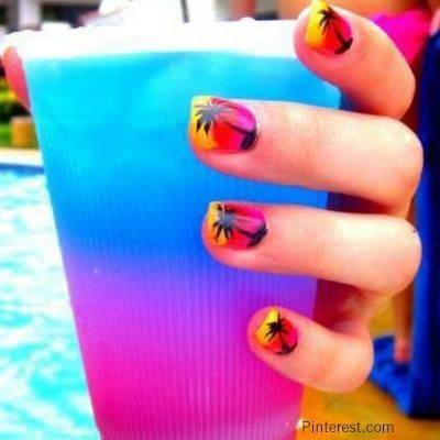 Ever Matched Your Nails With Your Cocktail Drink???