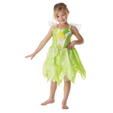 Disney Tinkerbell jurk 5-7 jaar  In dit sprookjesachtige Tinkerbell jurkje trek jij alle aandacht naar je toe. Zo mooi ben jij als de schattige Disney fee. Zelfs Peter Pan is onder de indruk wanneer jij alle feestgangers betovert met glitterstof.  EUR 19.99  Meer informatie