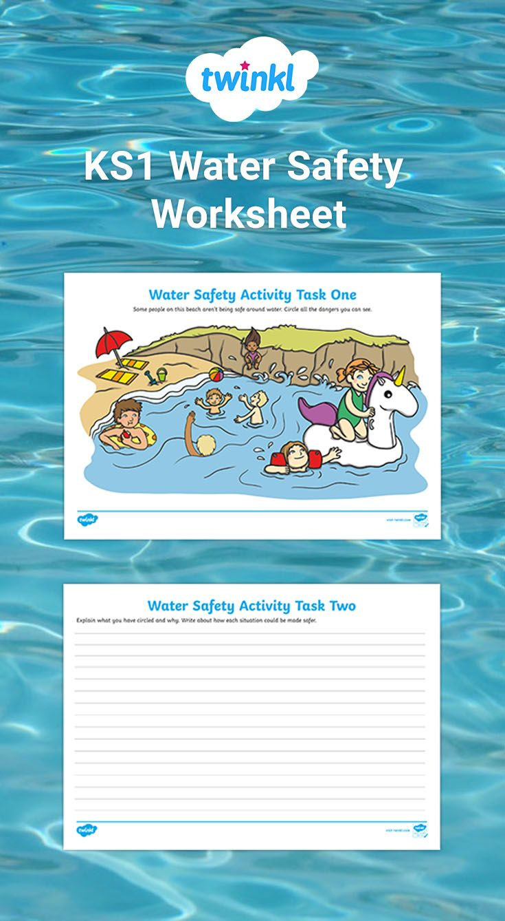 Ks1 Water Safety Worksheet Water Safety Activities Water Safety Help Teaching [ 1338 x 735 Pixel ]