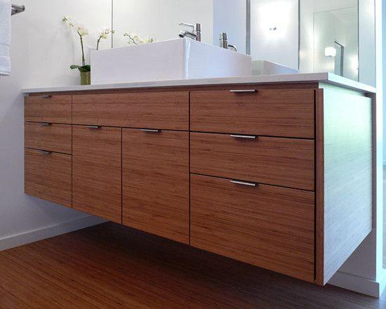 Best 25 bamboo bathroom ideas on pinterest clean make for Modern bamboo bathroom vanity