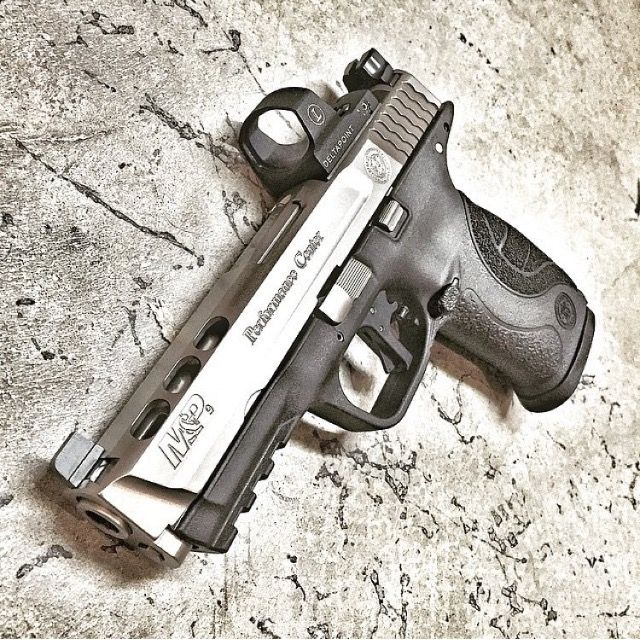 Smith and wesson m p core 9mm ported with leupold for M p ported core 9mm