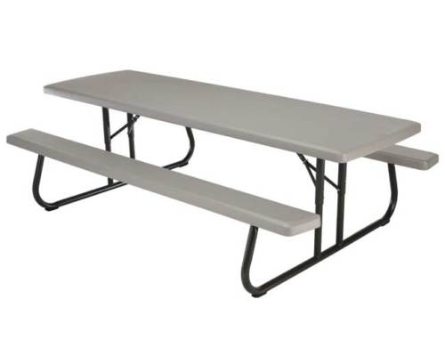 Lifetime 8 Foot Plastic Folding Commercial Picnic Table Model 80123 Putty | eBay $448