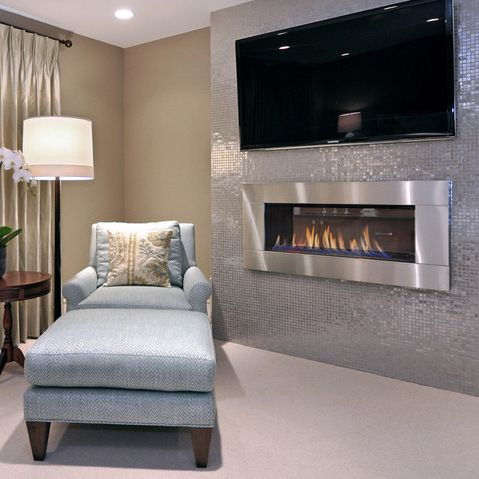 Electric Fireplace Design Ideas modern design idea for two sided corner fireplace living room Built In Electric Fireplace Design Ideas Pictures Remodel And Decor