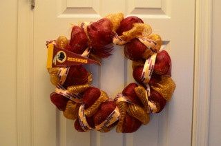 Washington Redskins Wreath by HooahHoneyHomemade on Etsy, $40.00