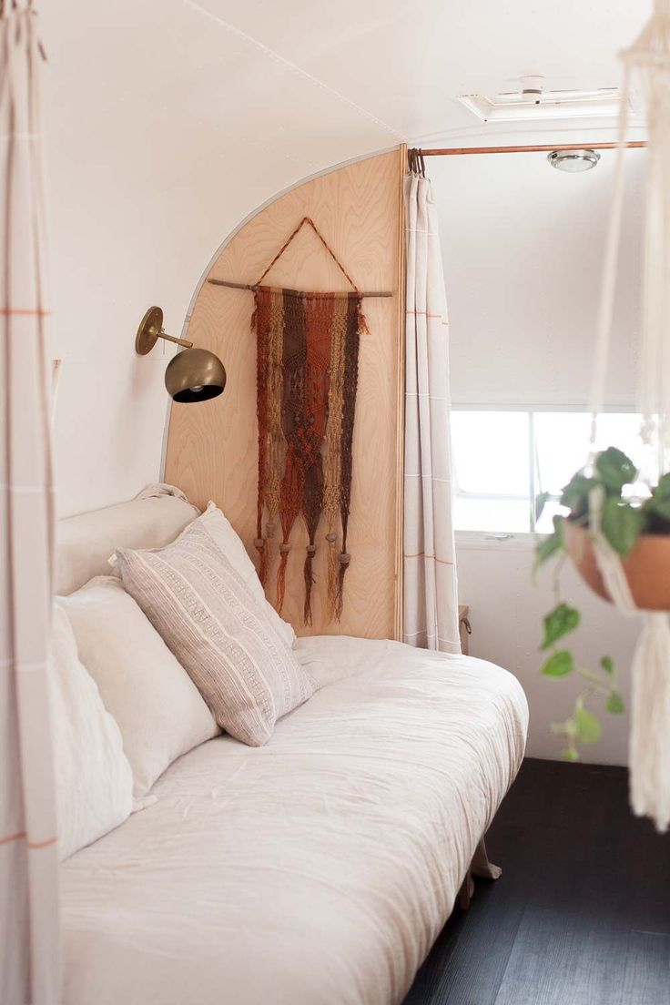 A Vintage Airstream Adventure on the Road | Design*Sponge | Issac Sconce by Schoolhouse Electric