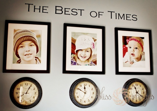 Clocks stopped at the time each child was born