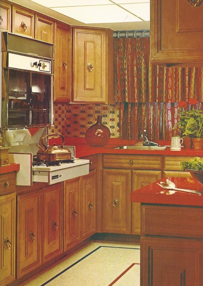 965 best kitchens of the past images on pinterest for Kitchen design 70s