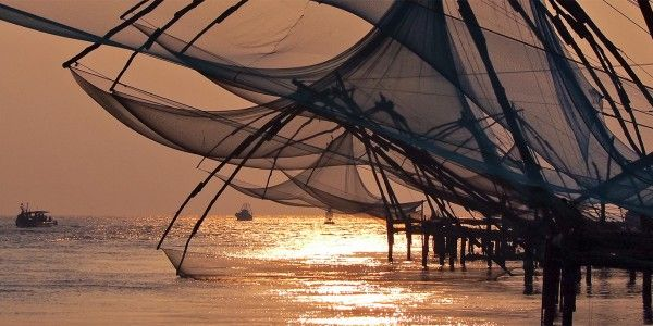 Les filets de pêche de Cochin, Inde - © Julia Maudlin