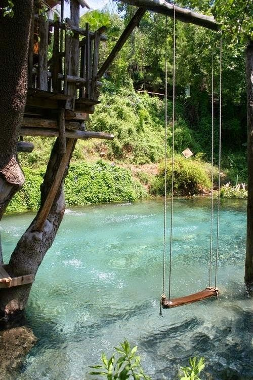 Swimming pool made to look like a river!
