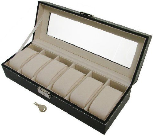 Organizacion relojes caja para guardar relojes - Cajas de plastico para almacenar ...