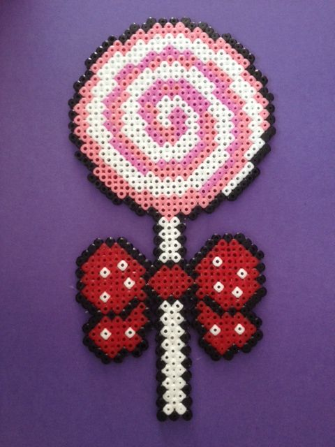 Candy Lollipop hama beads by  TheMissBlue
