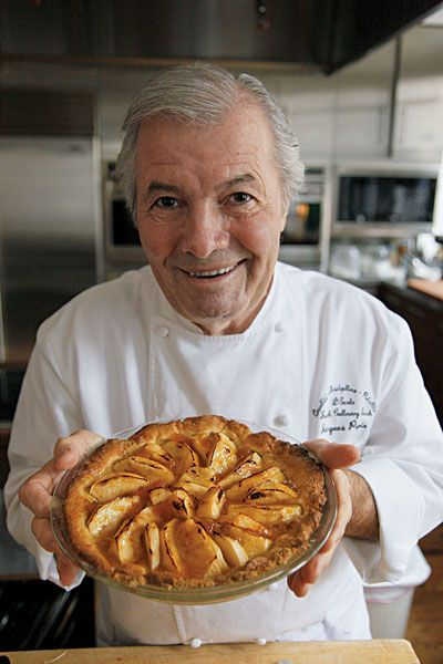 "Maman's Apple Tart  ""This dessert comes from the chef Jacques Pépin, who learned how to make it from his mother. To form the crust, Pépin covers the dough with plastic wrap to press it neatly into the pan."" ~Saveur magazine"