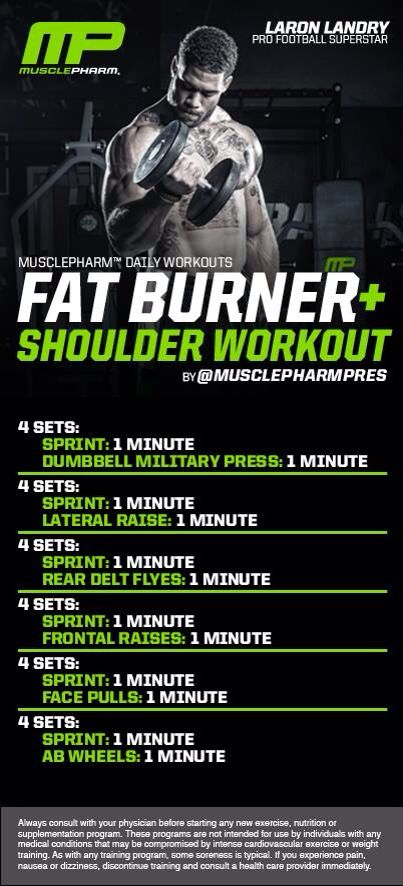 MASS GAINS: Fat Burner   Shoulder Workout