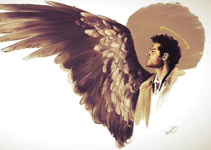 Кастиэль арты с крыльями