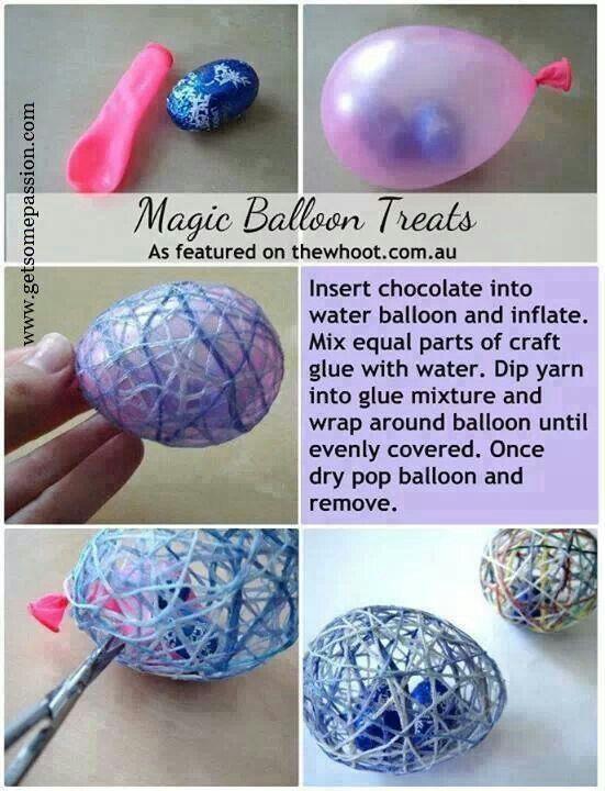 Easter magic ballon treats Oeufs de pâques originaux !
