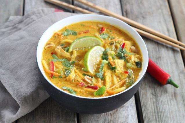 Nouilles Ramen au poulet à la thailandaise. On vous promet un voyage inoubliable :)