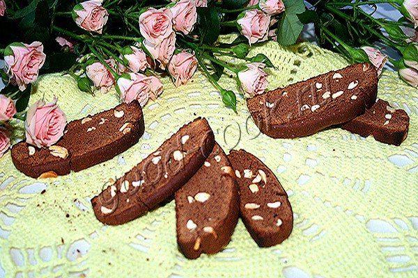 chrupki czekoladowe (biscotti)