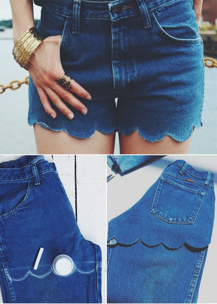 Transform Jeans Into Shorts - 8 Unique Ways To Recycle Your Old Pair Of Jeans