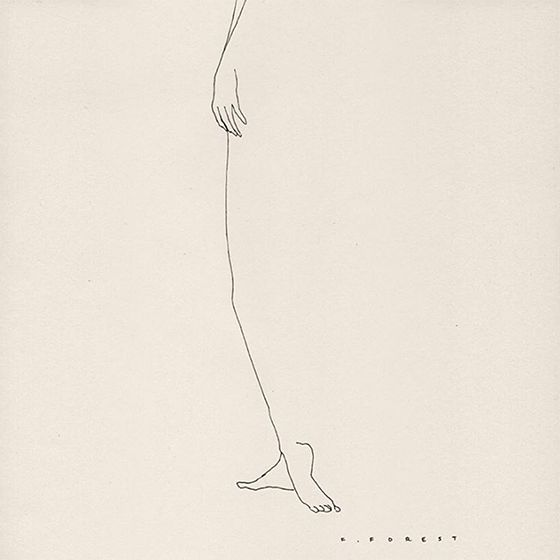Frédéric Forest's barely thereline drawings are completely seductive in the most minimal of ways.