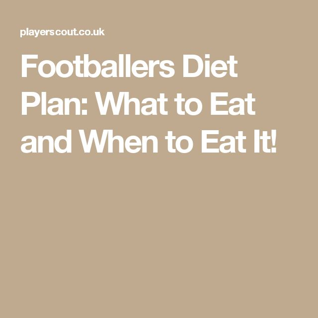 Footballers Diet Plan: What to Eat and When to Eat It!