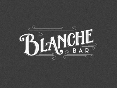 restaurant logo: Dribbble - Blanche Bar Final Logo by Matt Redway