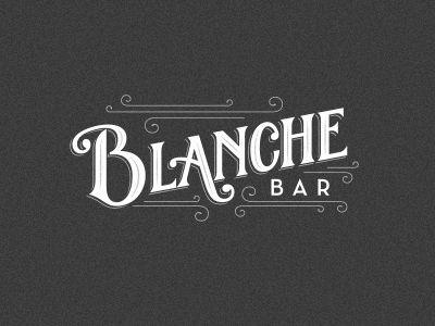 Dribbble - Blanche Bar Final Logo by Matt Redway