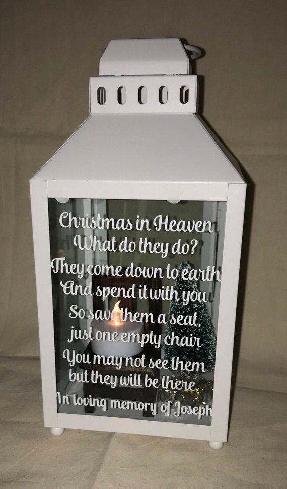 Christmas In Heaven Lantern.Christmas In Heaven Lantern Christmas In Heaven Memorial