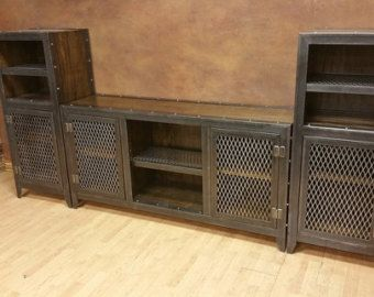 Industrial Media Console with Drawers and Hidden by IndustEvo