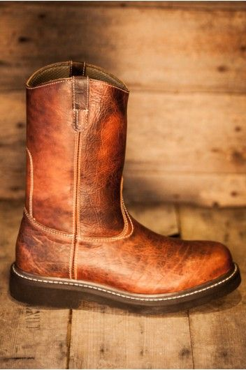 Mens Wellington Redfield Boot Genuine Bison Leather