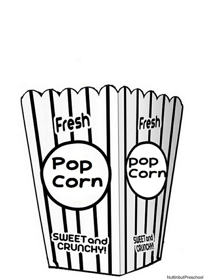 33++ Cute popcorn coloring pages ideas