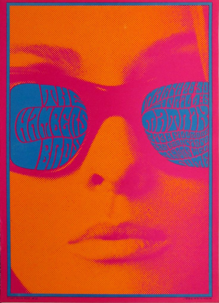 Victor Moscoso. The Chambers Brothers. 1967. Offset Lithograph, 20 x 14 1/4″ ( 50.8 x 36.8 cm). Gift of Jack Banning; Victor Moscoso