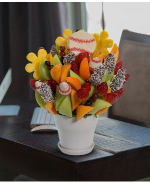 Home Run Blossom scent free fruit bouquet are great for all occasions and make great gifts ideas or decorations from a proud Canadian Company. Great alternative to traditional flowers or fruit baskets