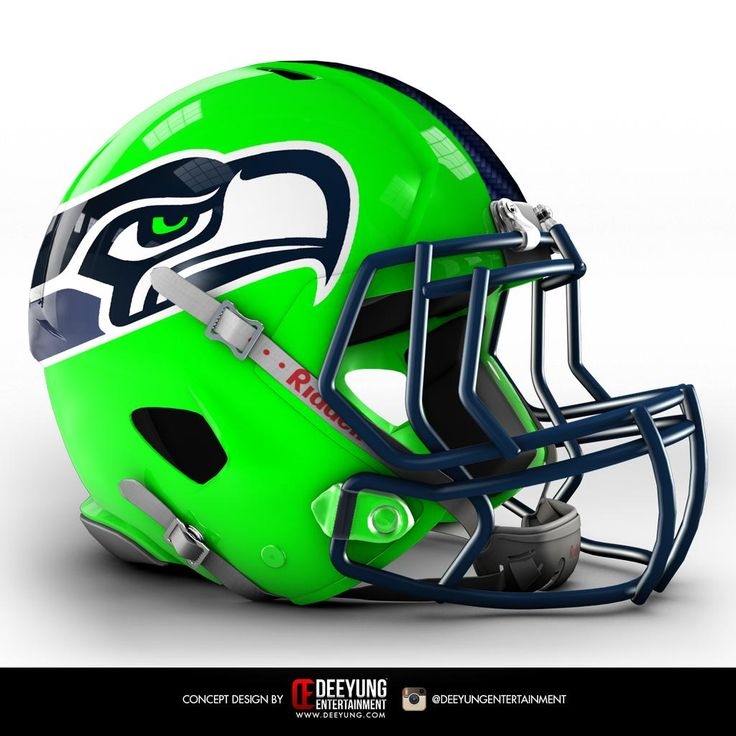 NFL Concept Helmets -2015  Seattle Seahawks. Deeyung Entertainment took this a step further by creating new helmets for all 32 teams. The designs are futuristic, and some of them very cool -- but old school fans won't be pleased