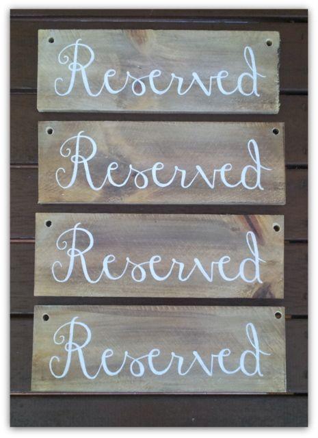 Custom Wooden Wedding signs created by Marlee & Ash