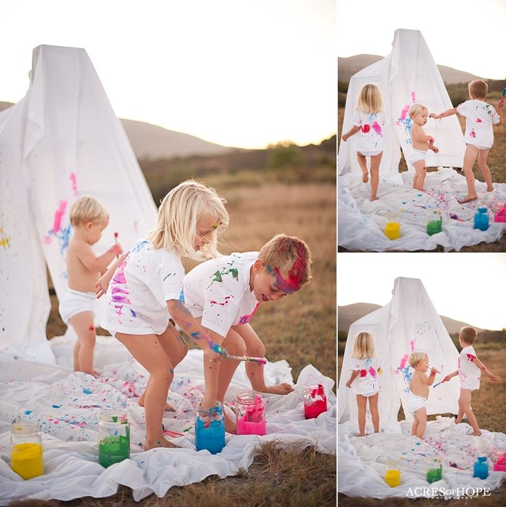 This is a great idea for a mini photo session. Each customer gets 2 new clean white sheet. Sell cheap at walmart