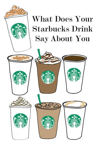 Just about time for our monthly meeting meet up at Starbucks. What does your drink say about you? ;)