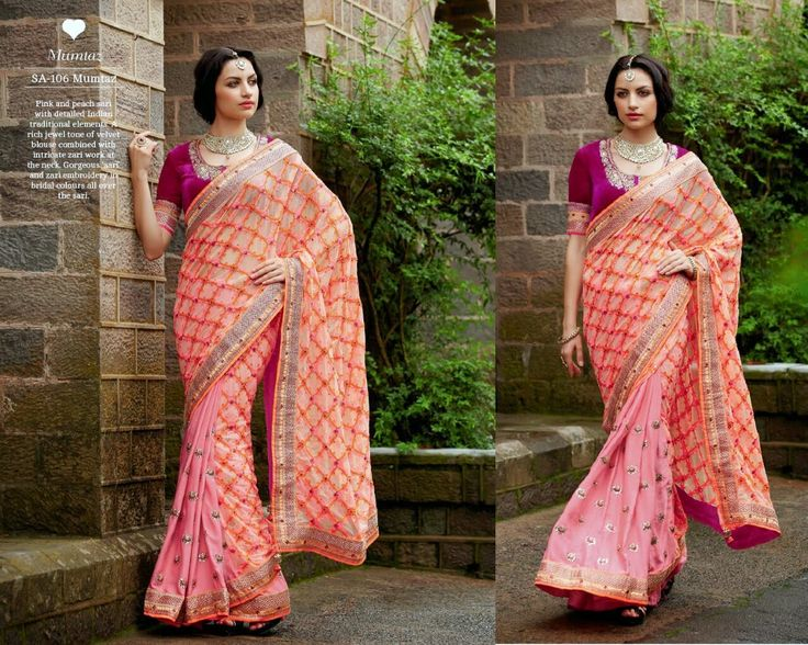 Look Beautiful on any Occasion in Pink & Peach Net Saree with Heavy Velvet Blouse and Santoon Inner. Woolen & Stone Work With Heavy Lace On Border.