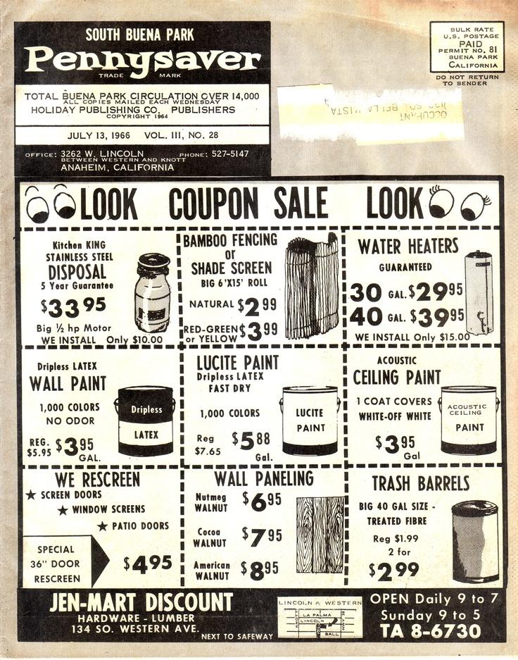 PennySaver cover circa 1966.