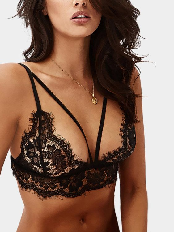 This sexy bra and is mainly made of soft and elastic lace material. Special and modern design makes you more attractive, charming, fashion and chic.