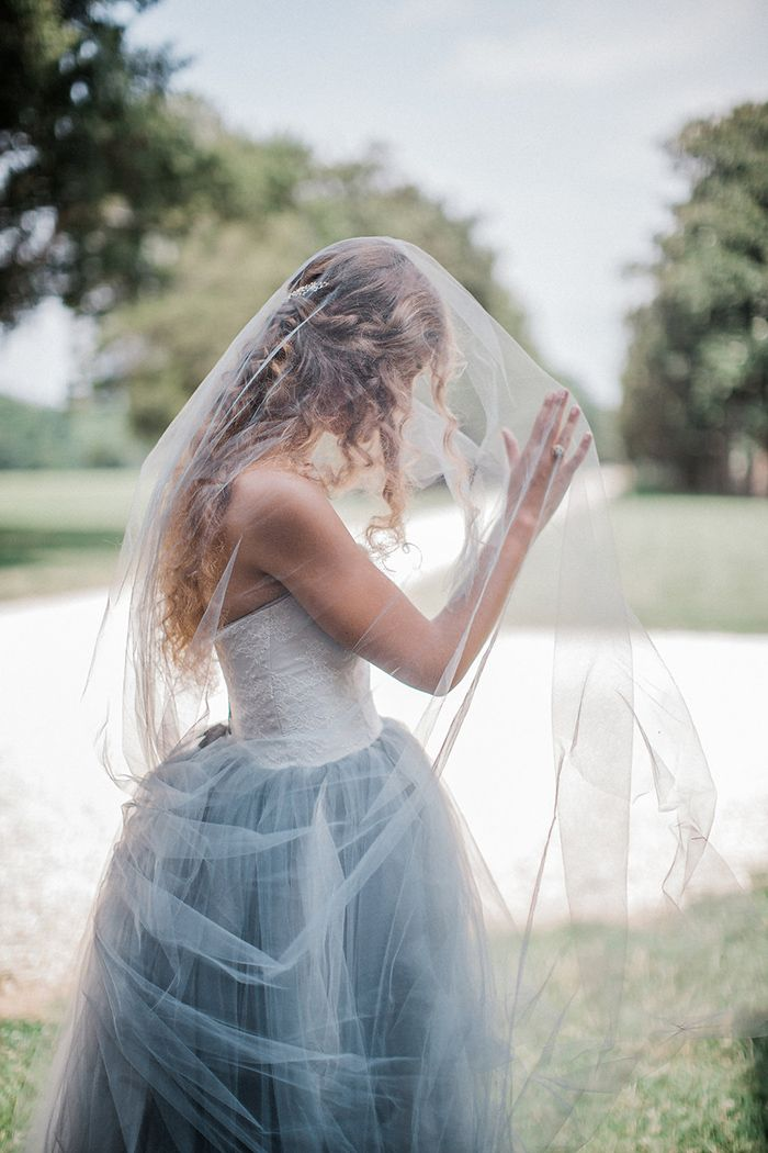 Ethereal Veil Photos for a Romantic Bridal Session