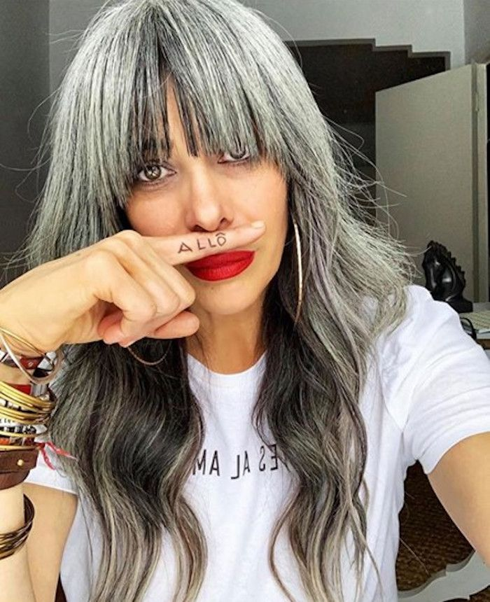 The Prettiest Shades Of Silver Hair & Gray Hair to Inspire Your Next Makeover in 2021 | Blending gray hair, Long gray hair, Gray hair highlights